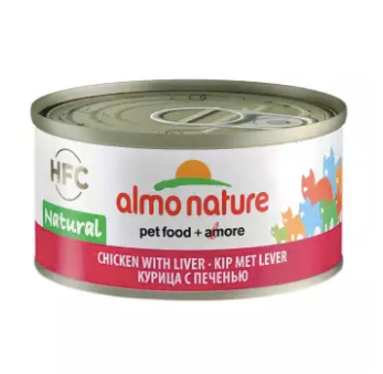 Almo Nature - HFC Natural Chicken & Liver 70g (24 Cans)