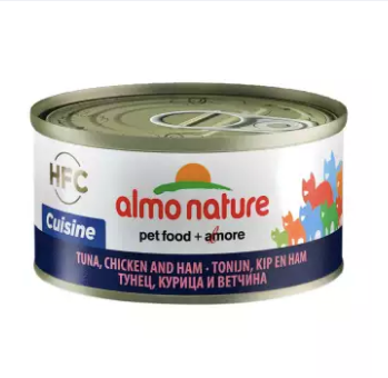 Almo Nature - HFC Natural Tuna, Chicken & Ham 70g (24 Cans)