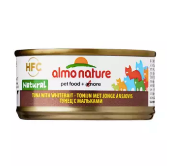 Almo Nature - HFC Natural Tuna & Whitebait 70g (24 Cans)
