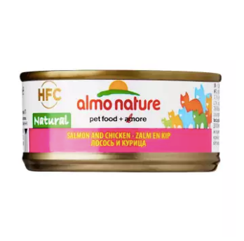 Almo Nature - HFC Natural Salmon & Chicken 70g (24 Cans)