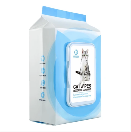Catidea - Deodorising & Grooming Cat Wipes 100 wipes