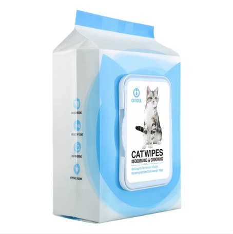 Catidea - Deodorising & Grooming Cat Wipes 25 wipes