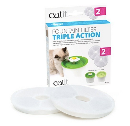 Catit® - Catit Triple Action Fountain Filter - 2 pack