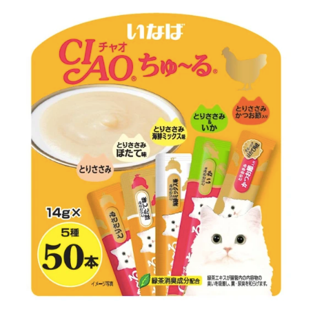 CIAO® Chu Ru - Chicken Festive Pack Liquid 14g X50pcs