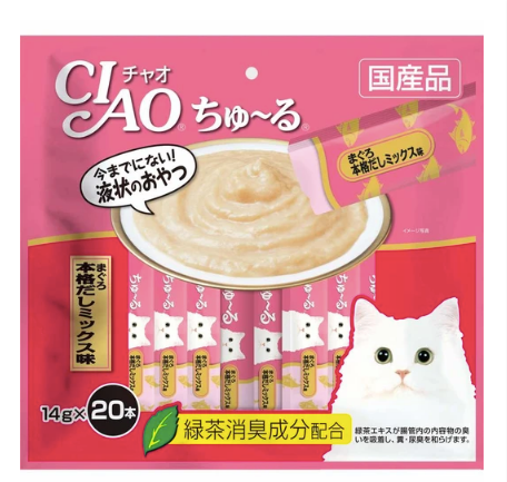 CIAO® ChuRu - Tuna Japanese Broth Liquid 14g X20pcs