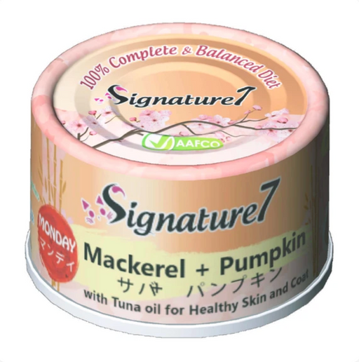 Signature7 - [Healthy Skin & Coat] Mackerel & Pumpkin 2.5oz [24 Cans]