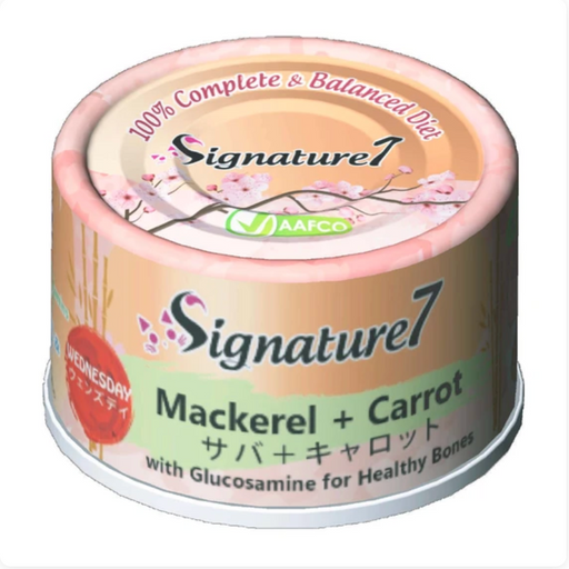 Signature7 - [Healthy Bones] Mackerel & Carrot 2.5oz [24 Cans]