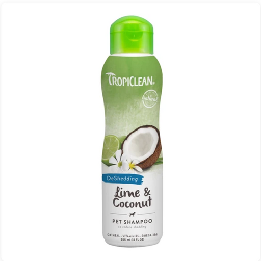 Tropiclean® Shampoo - Lime & Coconut (Deshedding) 12oz