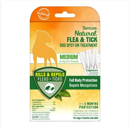 Tropiclean® Flea & Tick - Natural Spot-On Treatment (Medium)