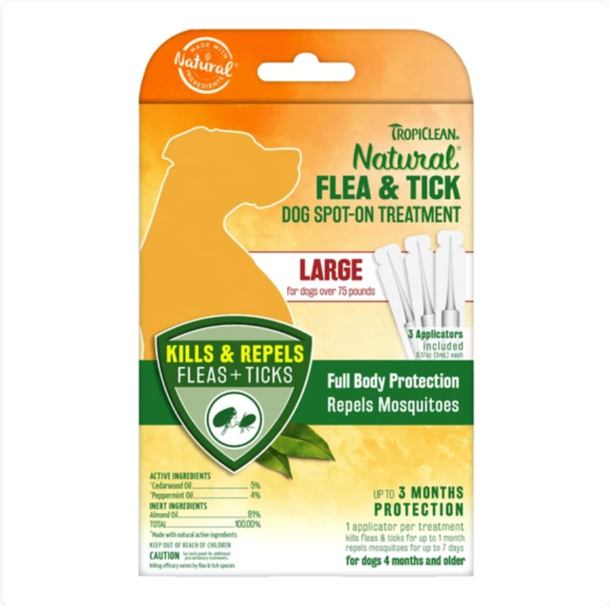 Tropiclean® Flea & Tick - Natural Spot-On Treatment (Large)