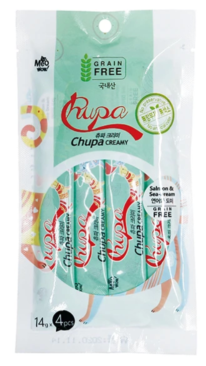 Bowwow Korea - MeoWow Chupa Creamy [Salmon & Sea Bream]