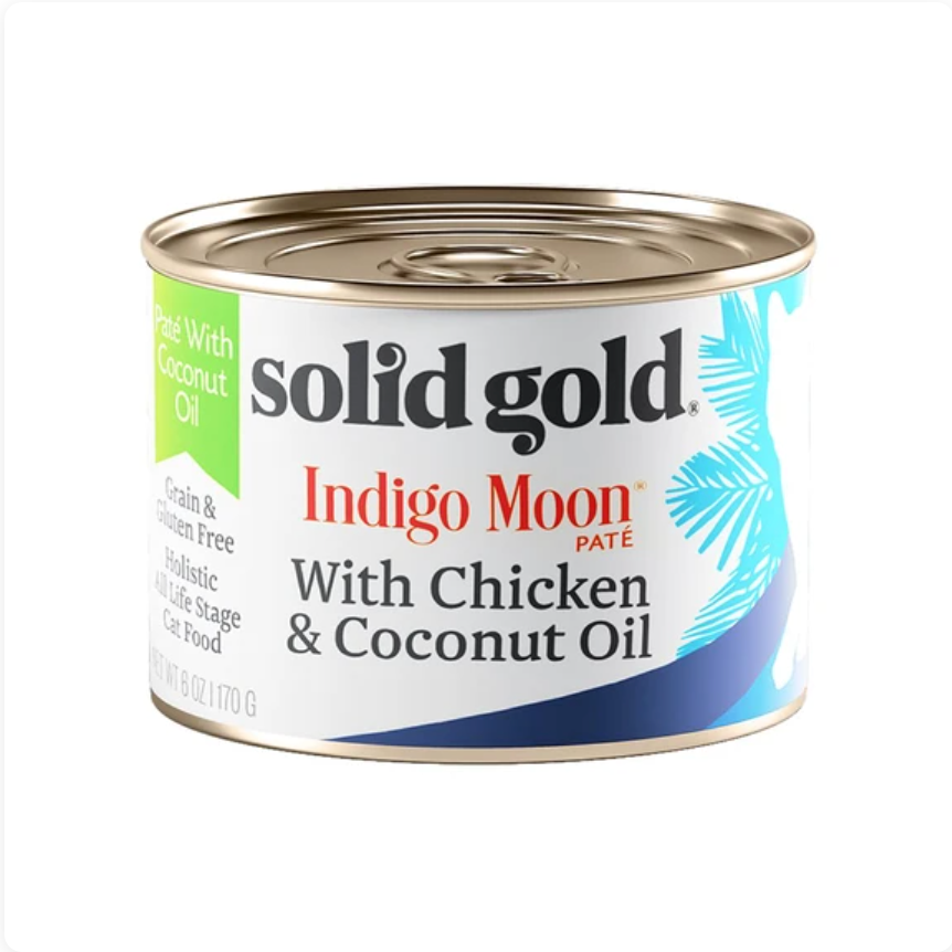 Solid Gold Indigo Moon - Pate Chicken & Coconut Oil 170g X 16 Cans