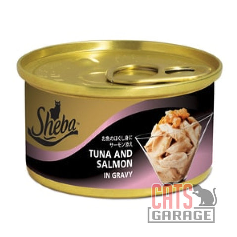 Sheba® - Tuna and Salmon in Gravy 85g