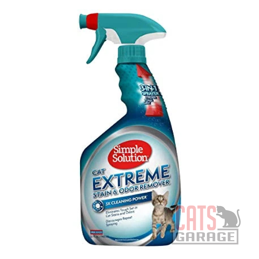 Simple Solution - Extreme Stain and Odor Remover Enzymatic Cleaner for Cats (2 Sizes)