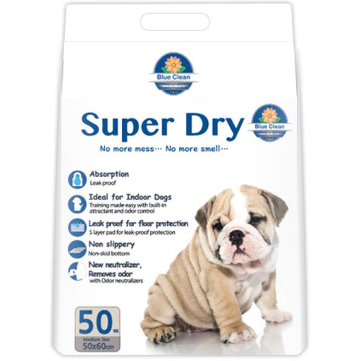 Blue Clean Super Dry SAP Ultra Absorbent Pee Pad 7g - 50Pcs (2 Sizes)