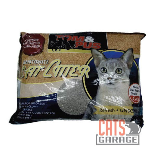 Tom & Pus - Bentonite Cat Litter Unscented 10L
