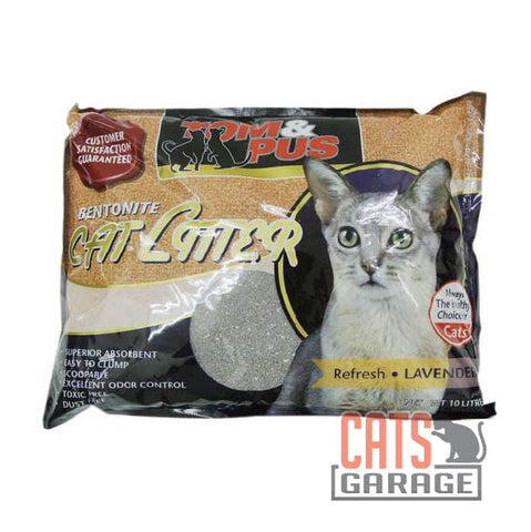 Tom & Pus - Bentonite Cat Litter Lavender 10L