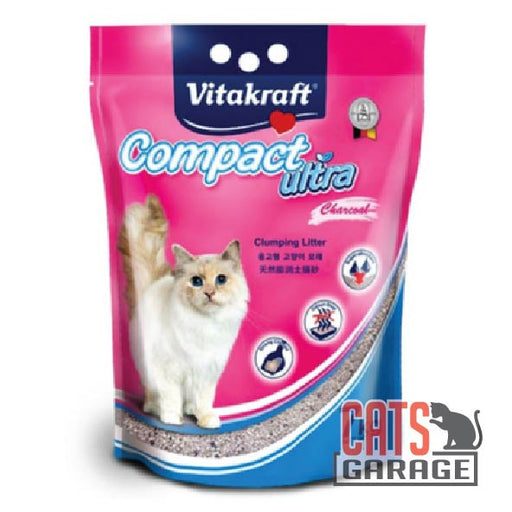 Vitakraft Compact Ultra - Charcoal Clumping Cat Litter 7kg