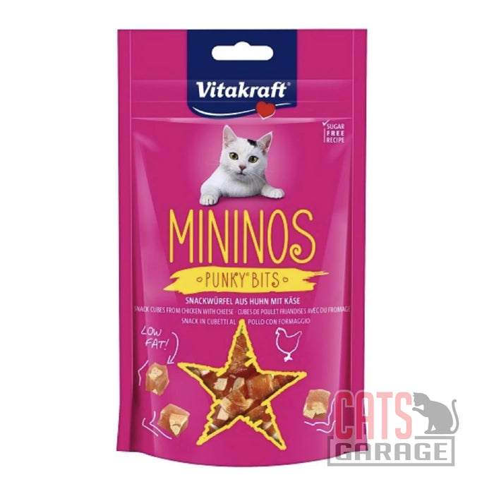 Vitakraft Mininos - Chicken & Cheese Punky Bits 40g