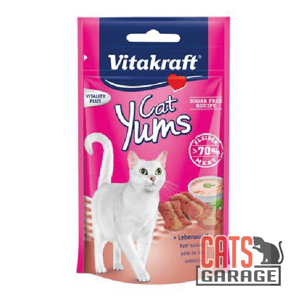 Vitakraft Cat Yums - Liver Sausage Cat Treats 40gms