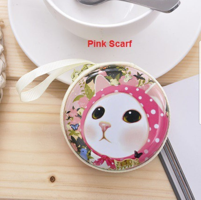 Cute Cat Coin Purse/USB Cable Purse Pouches