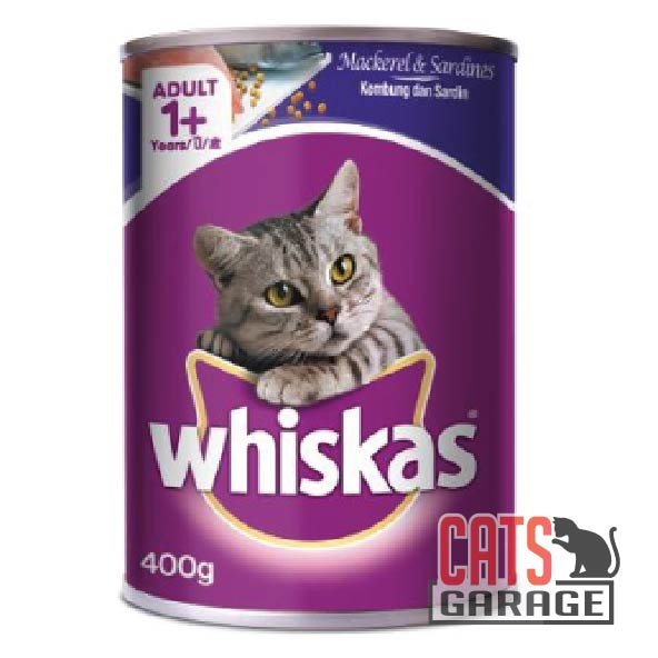 Whiskas - Mackerel & Sardine 400g (24 Cans)