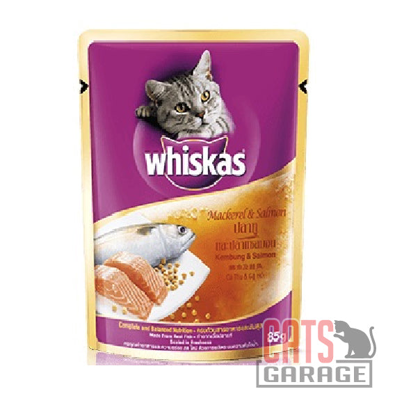 Whiskas® Pouch - Mackerel & Salmon 85g