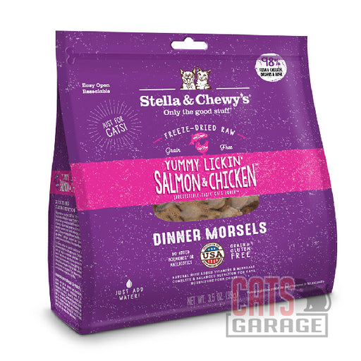Stella & Chewy's - Dinner Morsels / Yummy Lickin' Salmon & Chicken (2 Sizes)