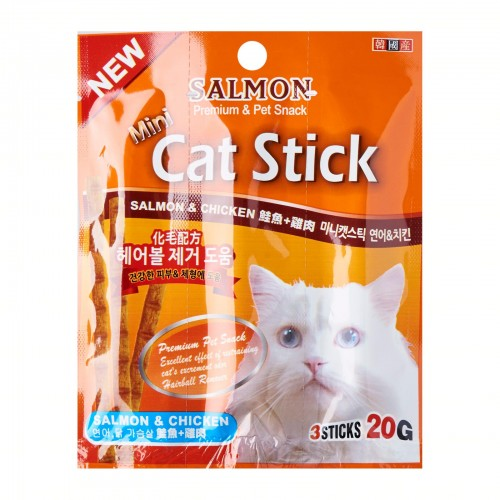 Bowwow Korea - Mini Stick Salmon & Chicken 20g