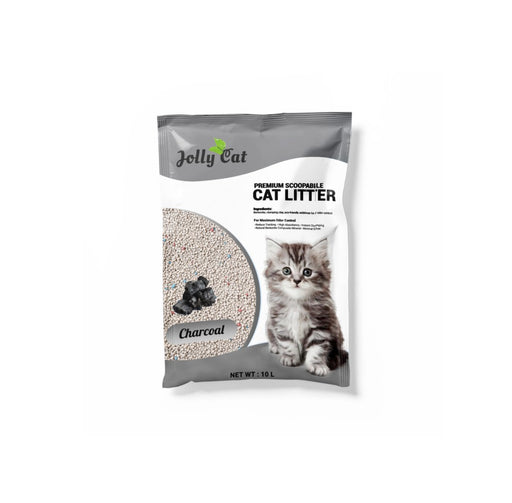 Jolly Cat - Bentonite Litter 10L Charcoal