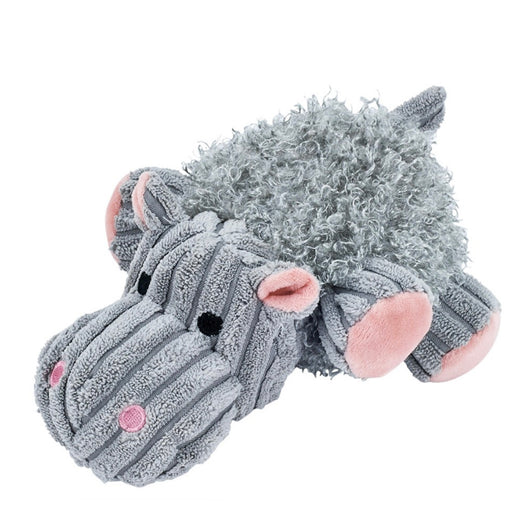 Marukan Lovable Hippo Stuffed Warm Feeling Toy for Dog
