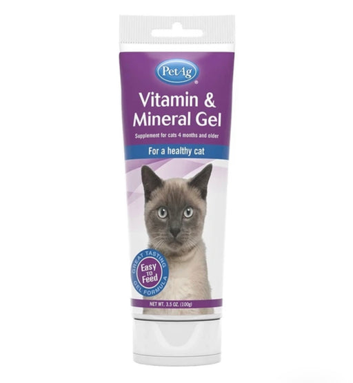 PetAg Vitamin & Mineral Gel Cat Supplement 3.5oz