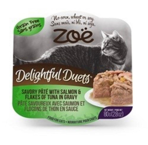 ZOË® Delightful Duets Savory Pâté with Salmon & Flakes of Tuna in Gravy - 80 g (2.8 oz)