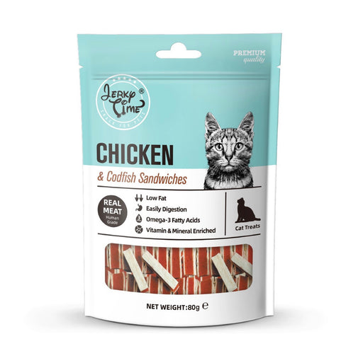 Jerky Time - Chicken Jerky with Codfish Sandwich for Cat 80g