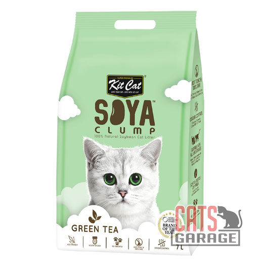 Kit Cat Soya Clump - Green Tea Cat Litter 7L