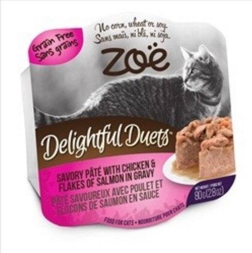 ZOË® Delightful Duets Savory Pâté with Chicken & Flakes of Salmon in Gravy - 80 g (2.8 oz)