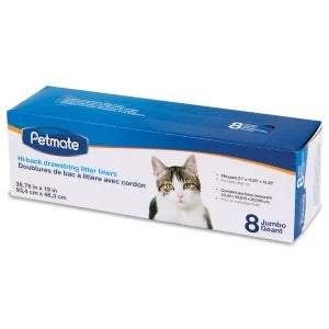 Petmate Hi-Back Litter Pan Liners (Jumbo 8ct)