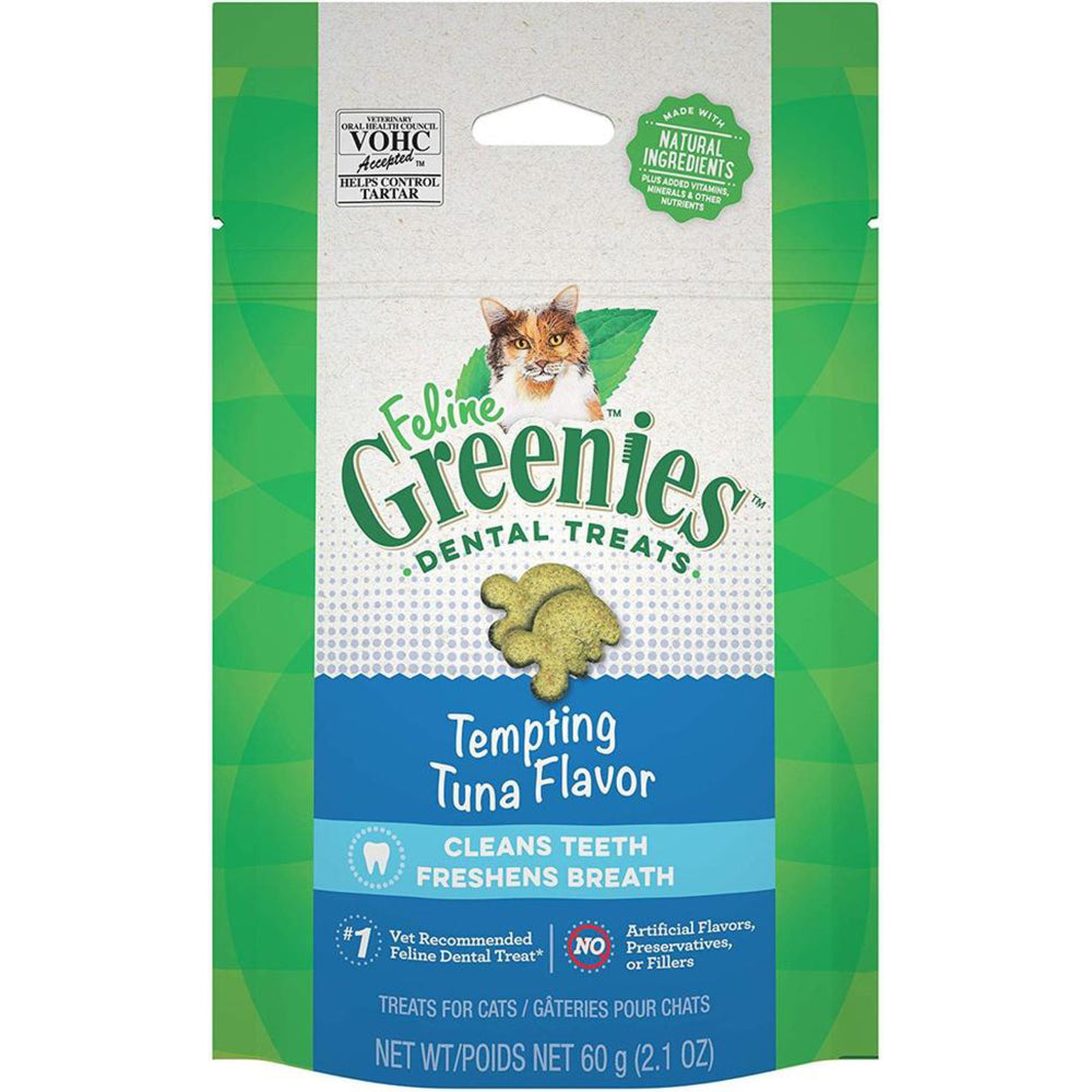 FELINE GREENIES™ Dental Treats - Tuna 60g