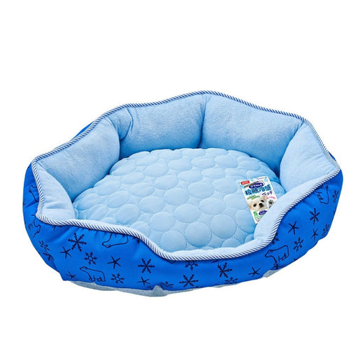 Marukan Cooling Bed Small Navy Blue