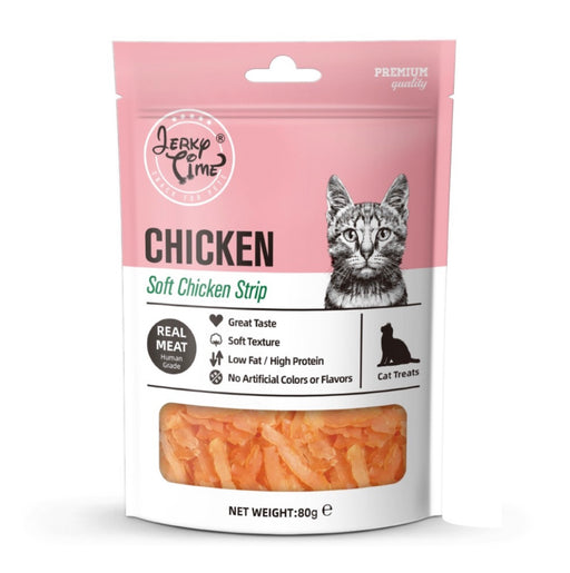 Jerky Time - Soft Chicken Jerky Strip for Cat 80g
