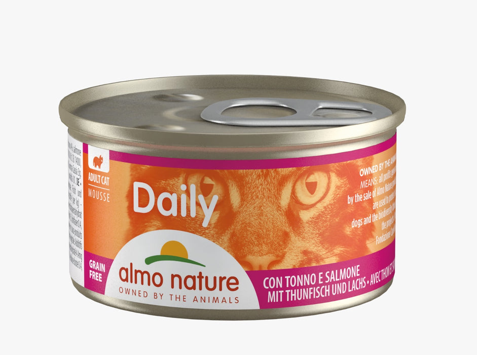 Almo Nature - Cat Daily Mousse Tuna & Salmon 85g (24 Cans)