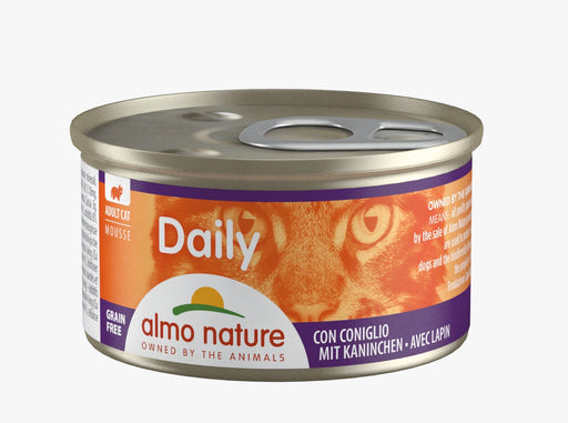 Almo Nature - Cat Daily Mousse Rabbit 85g (24 Cans)