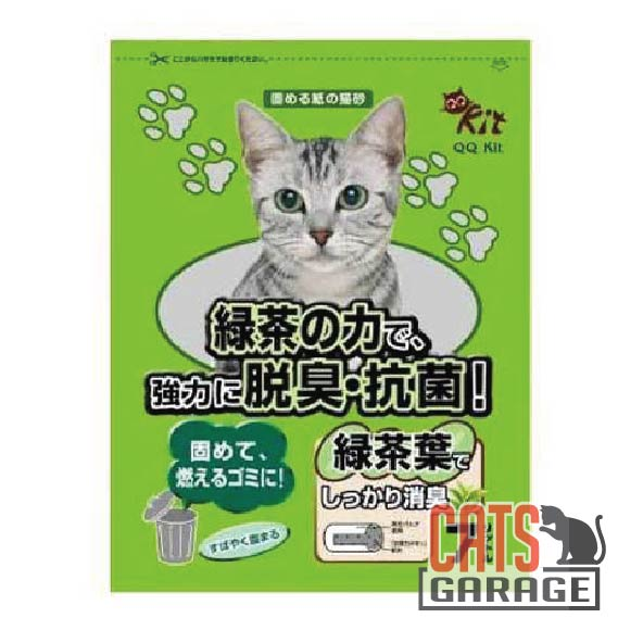 QQ Kit - Recyclable Paper Cat Litter 7L - Green Tea