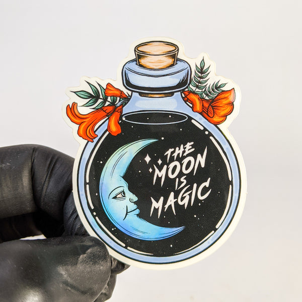 The Moon Is Magic Sticker