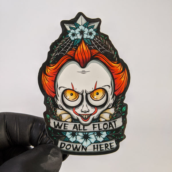We All Float Sticker