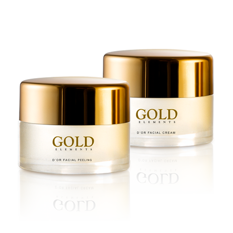 D'OR GOLD INFUSED GESICHTSPEELING & CREME SET