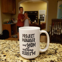 Customer photo project manager mom funny coffee mug