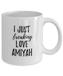 I Just Freaking Love Amiyah Mug Funny Gift Idea For Custom Name Coffee Tea Cup-Coffee Mug