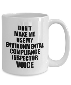 Environmental Compliance Inspector Mug Coworker Gift Idea Funny Gag For Job Coffee Tea Cup Voice-Coffee Mug