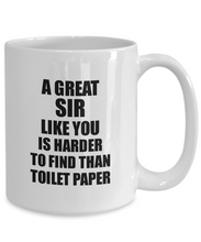 Load image into Gallery viewer, Great Sir Mug Like You Is Harder To Find Than Toilet Paper Funny Quarantine Gag Pandemic Gift Coffee Tea Cup-Coffee Mug